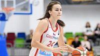 Česká basketbalistka Veronika Voráčková během utkání kvalifikace ME 2021 s Rumunskem.