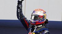 Sebastian Vettel se raduje z triumfu v Koreji.
