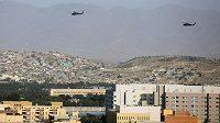 Vrtulníky nad Kábulem, ilustrační foto.