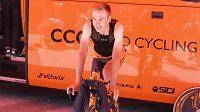 Jan Hirt před časovkou na Giro d´Italia.