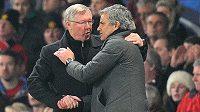 Sir Alex Ferguson (vlevo) a José Mourinho se vždy vzájemně respektovali.