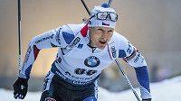 Ondřej Moravec na trati sprintu Světového poháru v Oberhofu.