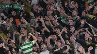 Fanoušci Cetlicu Glasgow během zápasu s Laziem Řím (ilustrační foto)
