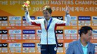 Marcela Šťastná na mistrovství světa masters v jihokorejském Kwangdžu.