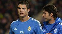 Zraněná opora Realu Madrid Cristiano Ronaldo.