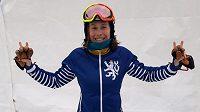 Eva Samková v novém outfitu.