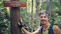 Scott Jurek v průběhu zdolávání Appalachian Trail.