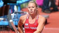 Tyčkařka Jiřina Svobovodá při kvalifikaci mistrovství Evropy.