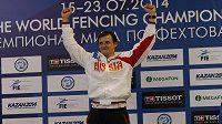 Ruský šermíř Alexej Čeremisinov na MS nenašel přemožitele.