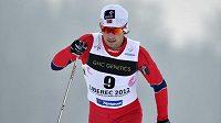 Norský běžec na lyžích Tomas Northug při MSJ v Liberci.