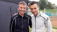 V rámci letní Jizerské 50 se potkali i dva sportovci z jižních Čech, nejlepší střelec české fotbalové ligy David Lafata a horolezec Ivo Grabmüller.