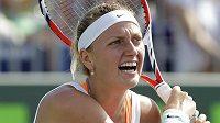 Petra Kvitová v osmifinálovém utkání v Miami proti Srbce Aně Ivanovičové.
