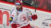 Třinecký útočník Zbyněk Irgl se raduje z gólu proti Litvínovu ve 21. kole hokejové Tipsport extraligy.