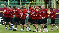 Hráči na tréninku českého týmu ve Vratislavi