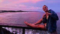 Oceán nabíjí Barboru Závadovou v Austrálii optimismem.