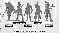 Team Gravity ohlásil novou soupisku pro Valorant.