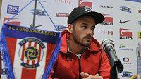 Záložník Zbrojovky Brno Roman Rafael Acosta (na snímku) z Uruguaye na tiskové konferenci před zahájením jarní části první ligy.