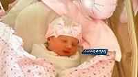 Novorozená Lilien Limberská.