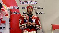 Ital Andrea Dovizioso při tréninku před GP Japonska.