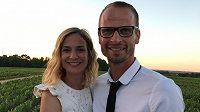 Bývalý reprezentační stoper David Rozehnal s manželkou Petrou.