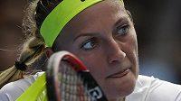 Tenistka Petra Kvitová v utkání 1. kola Australian Open s Nizozemkou Richel Hogenkampovou.