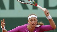 Petra Kvitová v osmifinálovém duelu French Open proti Varvaře Lepčenkové z USA