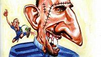 Franck Ribéry v karikatuře.