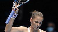 Karolína Plíšková v akci během tenisového Australian Open.