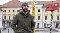 Marek Kysela v Regensburgu, kam si občas vyrazí na kávu z městečka Donaustauf, za které nastupuje v páté nejvyšší soutěži.