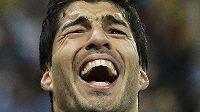 Uruguayec Luis Suárez poté, co dal gól proti Anglii.