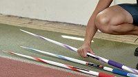 Oštěpařka Barbora Špotáková během přípravy před nadcházejícím MS 2015 v Pekingu, dne 7. srpna 2015 ve sportovním centru Nymburk.