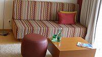 Komfort v hotelu, kde bude týden žít česká fotbalová reprezentace.