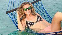 Kateřina Siniaková na dovolené v Indonésii.