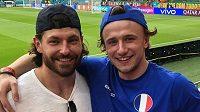 Michal Kempný (vlevo) s Jakubem Vránou vyrazili do Budapešti na zápas fotbalového EURO mezi Francií a Portugalskem.