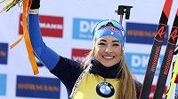 Dorothea Wiererová vyhrála stíhací závod na MS biatlonistů.