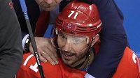 Ruský hokejista Ilja Kovalčuk, nejužitečnější hráč olympijského turnaje v Koreji.