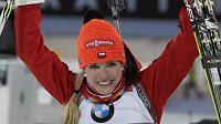 Soukalová nadále září. V Chanty Mansijsku vyhrála další závod.