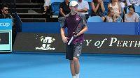 Český tenista Adam Pavlásek (na snímku) zdolal na Hopmanově poháru v Perthu Itala Fabia Fogniniho.