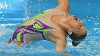 Alžběta Dufková bojovala o úspěch pro české synchronizované plavání