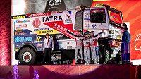 Slavnostní start dvaačtyřicátého ročníku rally Dakar. Na pódiu se představili členové českého týmu Buggyra - Martin Šoltys, David Schovánek a Tomáš Šikola s kamionem Tatra Phoenix.