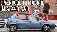 Fanoušek Liverpoolu na finále Ligy mistrů vyrazil v 26 let starém autě za 40 liber.