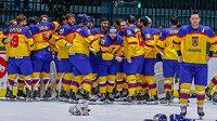Rumunští hokejisté slaví senzační postup z divize I. B.