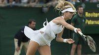 Britka Katie Boulterová v kvalifikaci Wimbledonu.