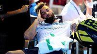 Francouzský tenista Benoit Paire byl hodně unavený