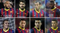 Dani Alves, Cesc Fábregas, Javier Mascherano, Alex Song, Alexis Sánchez, Adriano, Pedro a Cristian Tello. Ti všichni by mohli v létě opustit kádr Barcelony.
