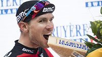 Američan Tejay van Garderen po triumfu v sedmé etapě závodu Kolem Švýcarska.
