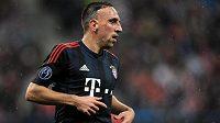 Franck Ribéry si přetrhl stehenní sval a bude Bayernu chybět.