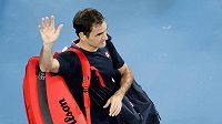 Švýcar Roger Federer se loučí s melbournským publikem.