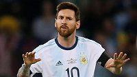 Argentinská hvězda Lionel Messi.