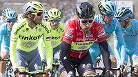 Peter Sagan (v červeném) na Tirreno-Adriatico.